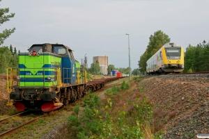 TGOJ T44 318 med GT 43465 og Y32 1406 som RST 8503. Vaggeryd 28.08.2009.