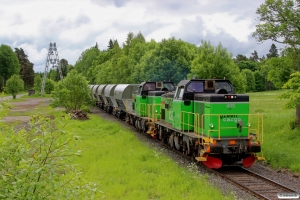 GC Td 409+Td 396 med GT 19082. Hargshamn - Gimo 10.06.2013.