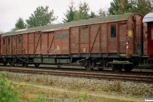 DSB 80 86 982 0 006-6 (Hjælpevogn 6). Engesvang 09.11.2002.