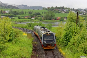NSB BM 9209+BS 9259 som Pt 427 (Søberg-Steinkjer). Ranheim - Sjølyst 11.06.2015.