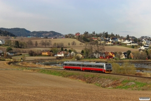 NSB BM 9204+BS 9254 som Pt 381 (Heimdal-Storlien). Ranheim - Sjølyst 06.05.2016.