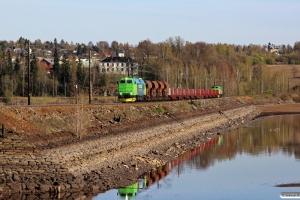 NRFAB TMZ 1460+14 vogne+NRFAB TMZ 1448 som At 51708 (Hønefoss-Hamar). Hamar 06.05.2016.