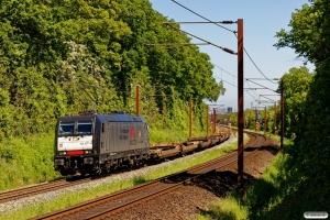 TXL 185 407-4 med TG 36797 Mgb-Pa. Km 165,6 Kh (Odense-Holmstrup) 30.05.2020.