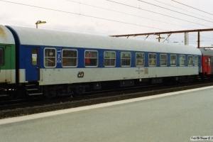 ČD Bc842 51 54 59-41 165-5 i IP 13284 (Skiløberen). Odense 10.03.2002.