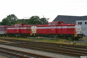 CFLDE 1152 (ex. DR 110 430) og 1151 hensat. Niebüll NEG 29.07.2012.