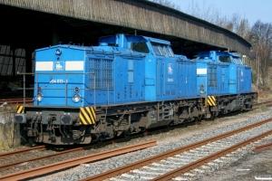 PRESS 204 013-3 (ex. DR 110 436)+204 005-3. Hamburg-Harburg 12.04.2008.