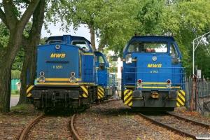 MWB V 1201 (ex. DR 110 753), V 761 og V 762. Hamburg-Waltershof 15.09.2012