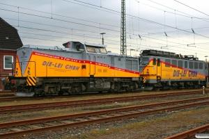 DLI 202 970-5 (ex. DR 110 970) og DLI ? (ex. WAB 59). Flensburg 12.04.2008.