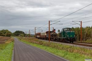 DSB MT 152+VTV Uis+DSB D 857+Buh 704+CLL 1495+Hs-t 49804 som VM 222810 Bm-Rg. Km 195,4 Kh (Ejby-Nørre Åby) 29.09.2018.