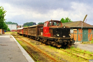 DSB MT 152+Hbis-ww+Hbis+CL 1630+AU 253 som PX 8259 Svg-Od. Svendborg 08.08.1999.
