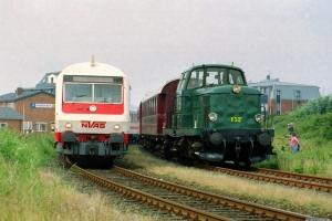 NVAG 101+T 4+2 DB Bimz som NVAG 14 og DSB MT 152+AU 253+BHL 401. Dagebüll 11.08.2002.