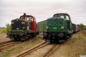 DSB MT 155 og MT 152. Marslev 18.10.2003.