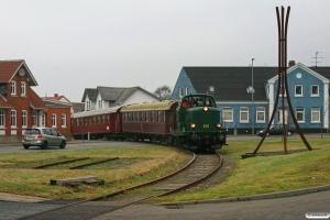 DSB MT 152+AU 253+CLE 1672 kører på havnen. Lemvig 17.01.2009.