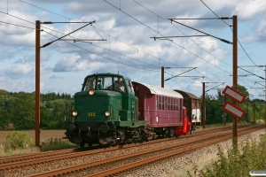 DSB MT 152+CLE 1672+RSC Køf 282+Hims 204 som VP 228203 Fa-Tl. Km 5,0 Fa (Fredericia-Taulov) 08.09.2012.