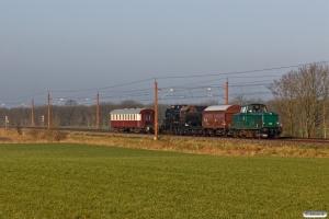 DSB MT 152+Hs-t 49804+E 987+VtV Uis+DSB Buh 704 som VM 222604 Bm-Rg. Km 37,2 Lk (Gørding-Bramming) 07.03.2020.