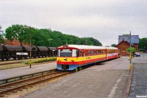 VLTJ Ym 14+ØSJS Ys 14 som Tog 326 Lmv-Vem. Vemb 26.07.1996.