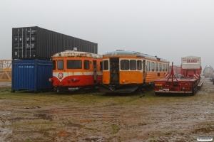 VLTJ YBM 17 og YBM D 16 hensat. Rødekro 16.11.2019.