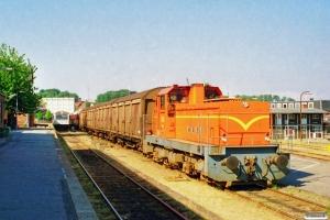 VNJ DL 14+4 Hbikks+AU 253+CL 1589+CL 1630+CLE 1672 som PX 6455 Svg-Od. Svendborg 10.08.1997.