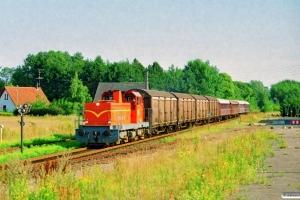 VNJ DL 14+4 Hbikks+AU 253+CL 1589+CL 1630+CLE 1672 som PX 6455 Svg-Od. Stenstrup 10.08.1997.