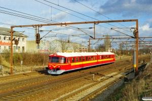 VNJ Ys 82+Ym 72 som MX 8353 Sg-Va. Odense 25.02.2000.