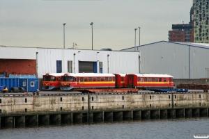 VNJ Ys 82, Ym 72, Ys 83 og Ym 73 på Kamerunkai. Hamburg-Süd 28.08.2012.