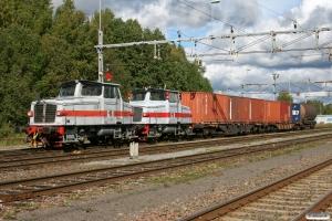 TÅGAB Z65 204 (ex. Z65 565)+Z65 211 (ex. Z65 521). Hällefors 15.09.2010.