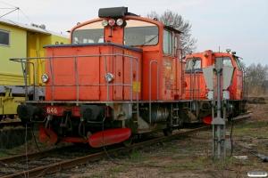 BV DAL 1862C (ex. Z67 646) og DAL 0626B (ex. Z67 626). Hässleholm 13.04.2009.